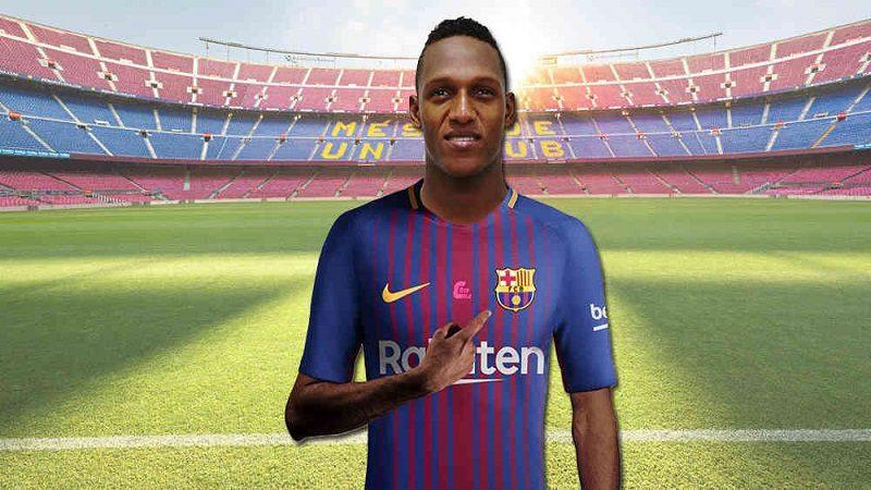Confirman fichaje de Yerry Mina en el Barcelona FC