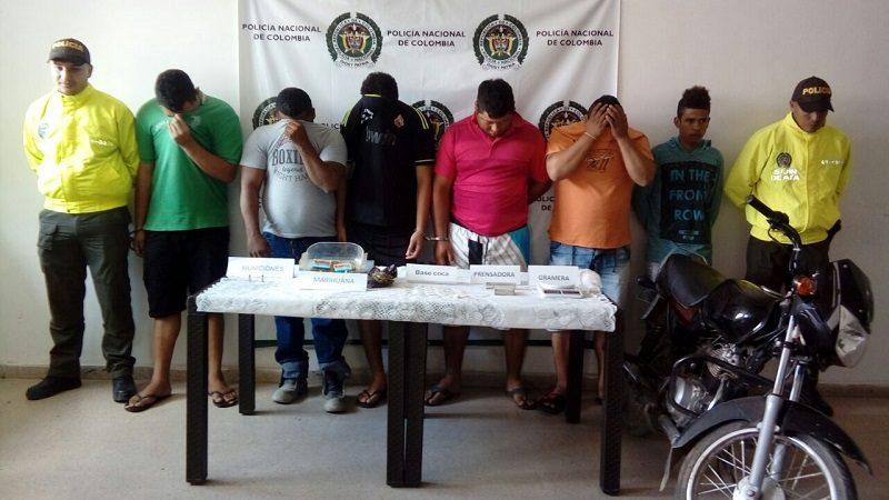 Desmantelan banda que vendía base de coca y marihuana en Atlántico