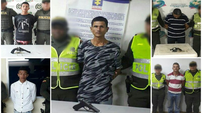 Policía captura a cinco atracadores en Barranquilla y Soledad