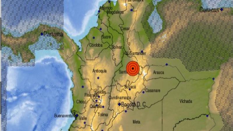 Sismo de magnitud 5,4 sacudió a Colombia este lunes festivo