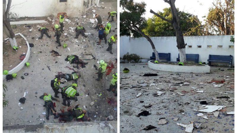 Van tres policías muertos y 17 heridos por atentado a Estación del barrio San José