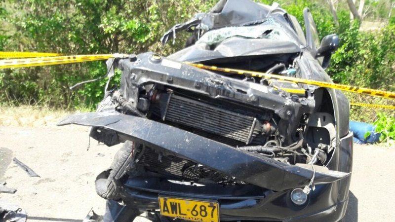 Cuatro personas muertas deja accidente de tránsito en el sur del Atlántico