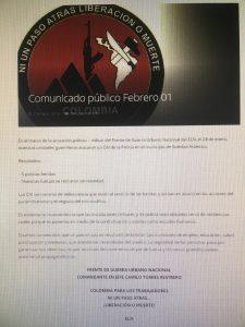 ELN se atribuye atentado contra CAI de Soledad 2000 1