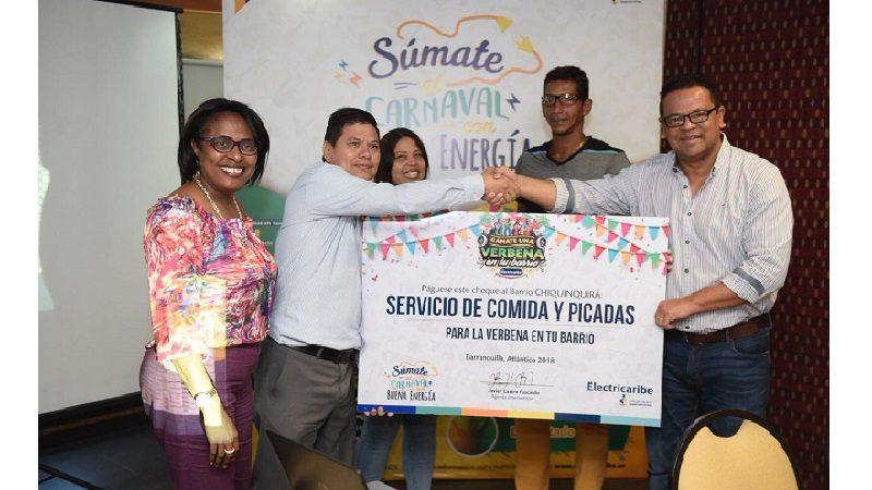Electricaribe premia al barrio Chiquinquirá con una verbena por ser buena paga