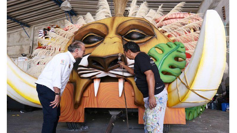 Esta es la carroza de la reina del Carnaval del Atlántico que cerrará la Batalla de Flores