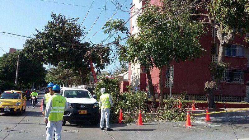 Fuertes brisas aumentan en 117% daños eléctricos en Barranquilla