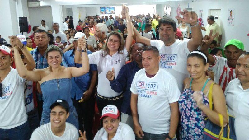 Maratónico recorrido por el Atlántico de la candidata a Cámara Lilibeth Llinás