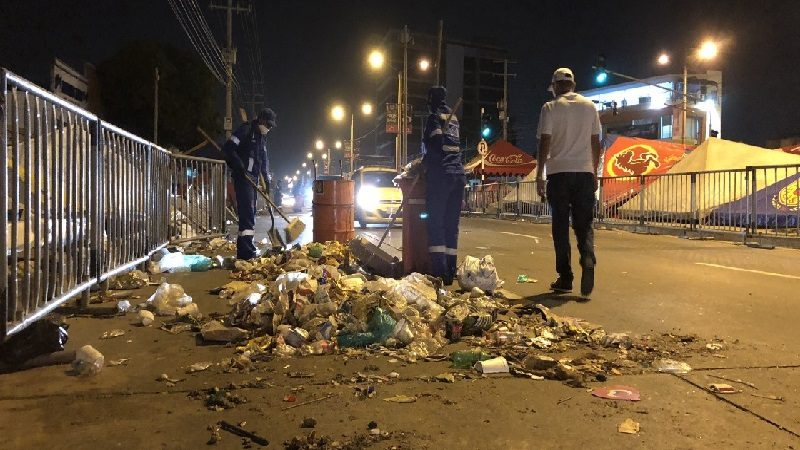 Triple A recogió 586 toneladas de basura en el Carnaval 2018