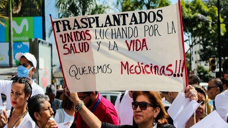 Venezolanos con graves enfermedades exigen medicinas tras el fracaso del diálogo