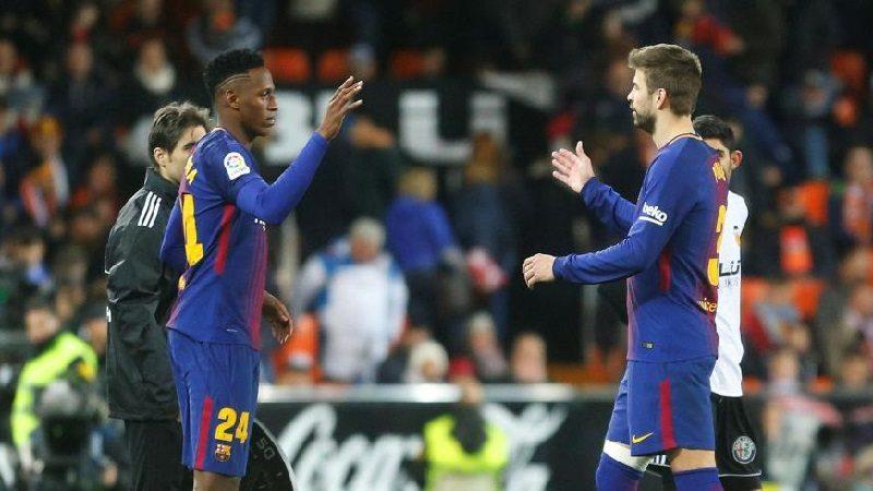 Yerry Mina debutó con el Barcelona