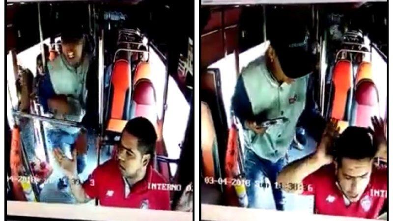 Vídeo: Asaltan a pasajeros en bus de Coochofal y apuñalan al conductor