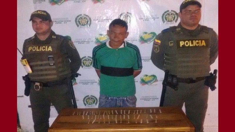 Cayó alias el 'Flaco', vendiendo cigarrillos de marihuana en Sabanagrande