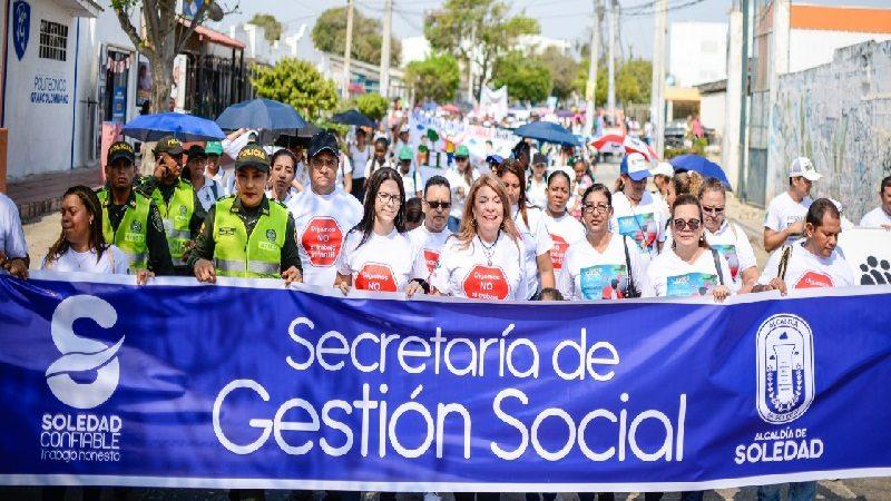 Con marcha multitudinaria, Soledad le dice no al trabajo infantil