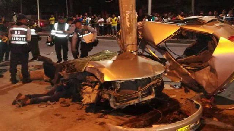 Dos muertos y tres heridos deja aparatoso accidente de tránsito en Santa Marta