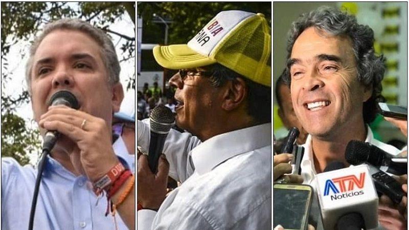 Duque, Petro y Fajardo, lideran intención de voto encuesta de El Tiempo y W Radio