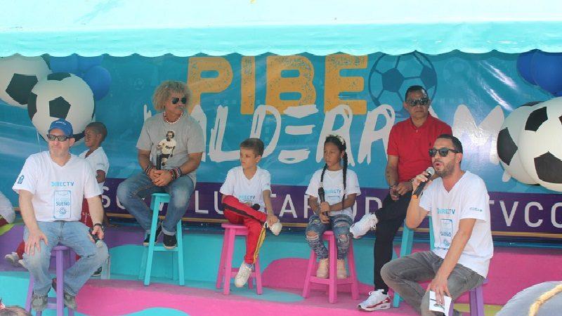 El Pibe Valderrama, Iván René Valenciano y DIRECTV inauguran proyecto de inversión social en Barranquilla