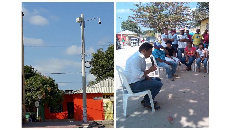 Instalan moderna cámara de seguridad en el corregimiento de Caracolí