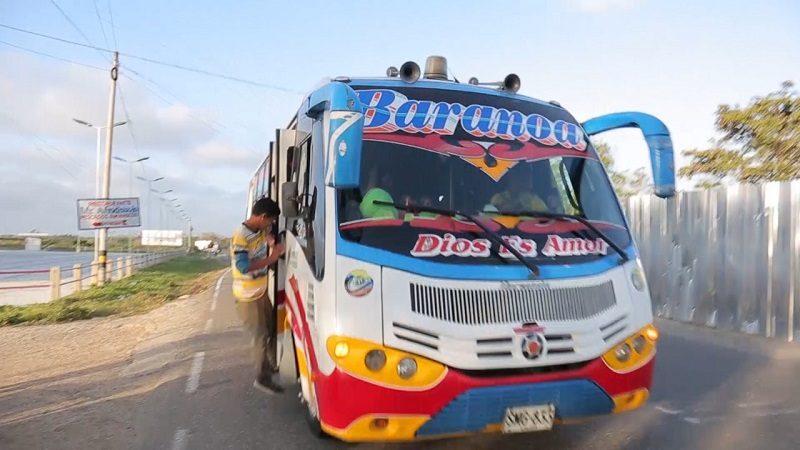 Más de 1.300 buses en Atlántico cuentan con botón de pánico