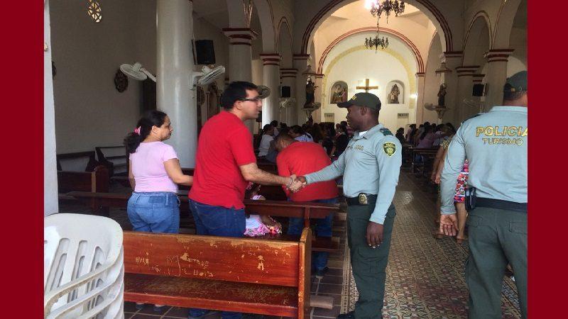 Policía custodia iglesias del Atlántico durante esta Semana Santa