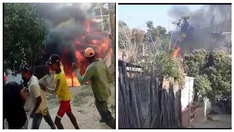 Voraz incendio consumió seis casas en el municipio de Puerto Colombia
