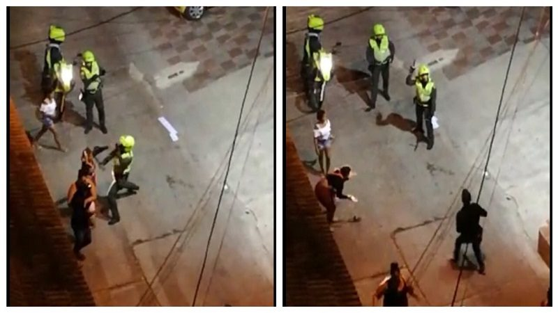Denuncian brutal agresión de policías contra una mujer en el Centro