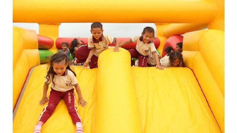 Estudiantes del corregimiento de Aguas Vivas, en Piojó, celebraron el Día de la Niñez
