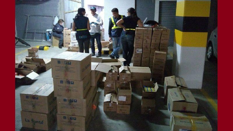 Incautan tonelada y media de medicamentos descompuestos que iban a ser vendidos en Colombia