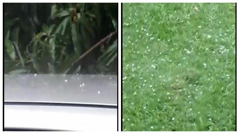Increíble! Llovió granizo en Sabanagrande, Atlántico
