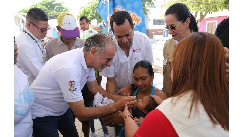 Más de 7 mil niños iniciaron esquema de vacunación en Atlántico