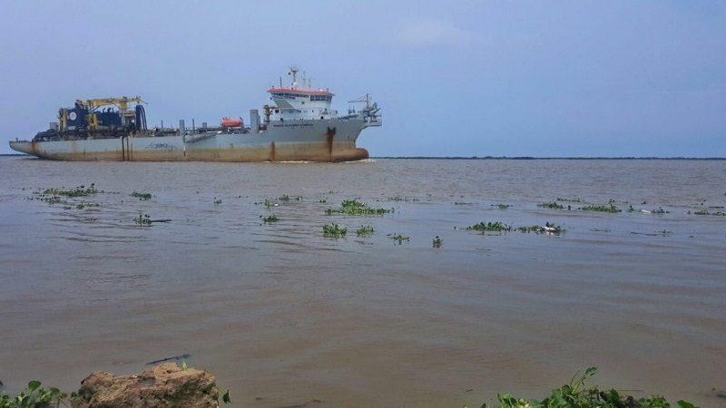 Se han dragado 55.000 metros cúbicos en canal de acceso al puerto de Barranquilla