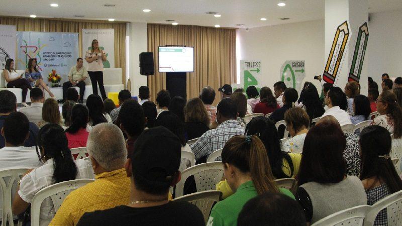 Secretar a de educaci n de barranquilla rindi cuentas a for Barrio ciudad jardin barranquilla