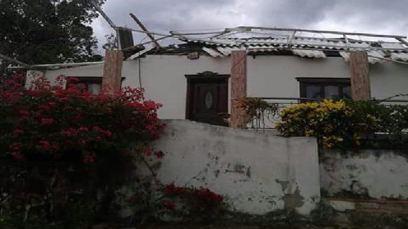 Seis heridos y 347 casas destechadas deja vendaval en 9 municipio del Atlántico
