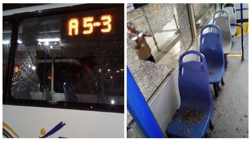 Un pasajero herido y seis buses afectados dejan actos vandálicos contra Transmetro