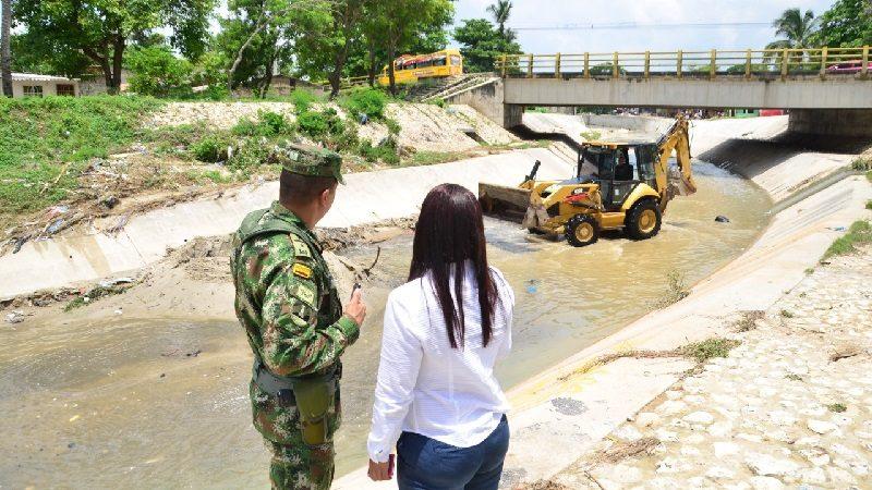 Arroyo El Platanal de Soledad quedó libre de sedimentos, tras labores de limpieza