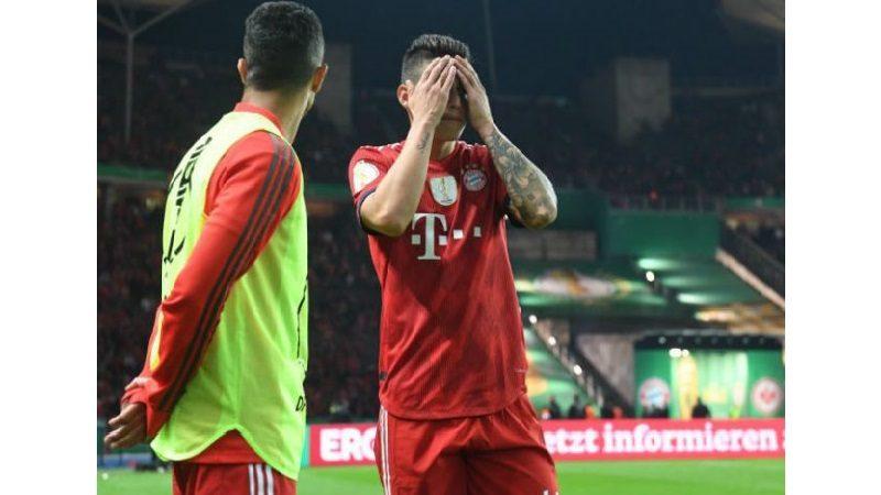 Con James Rodríguez, Bayern Múnich perdió la final de la Copa de Alemania