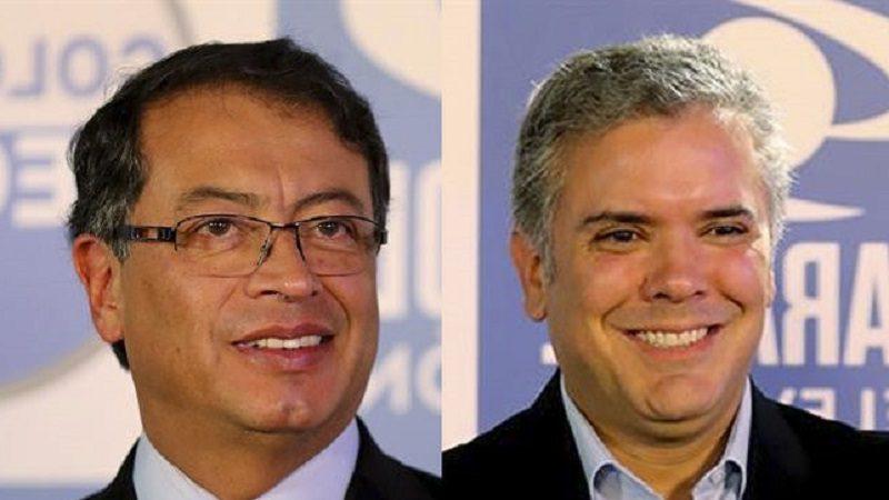 Iván Duque y Gustavo Petro, a segunda vuelta por la Presidencia de Colombia