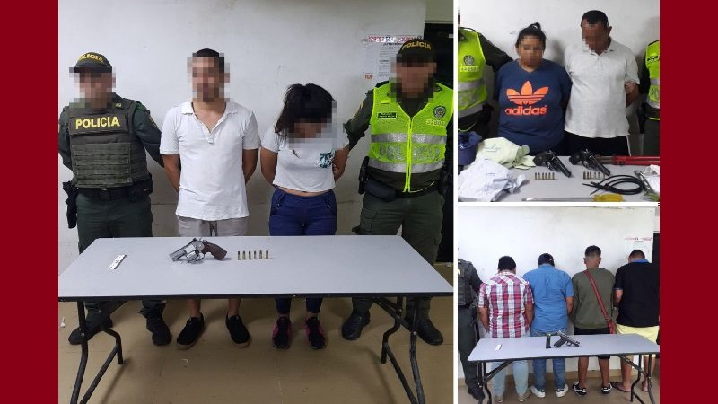 Policía captura a 8 presuntos atracadores en diferentes barrios de Barranquilla
