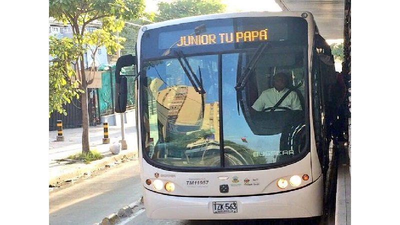 Transmetro tiene lista operación por partido Junior – Boca este miércoles 2 de mayo