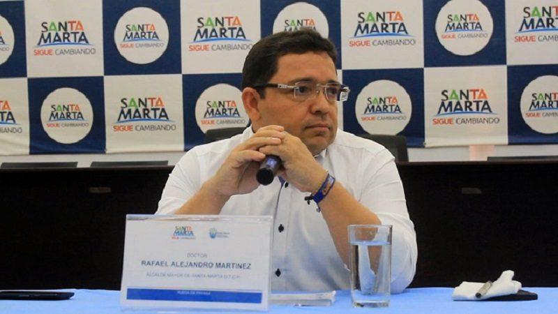 alcalde distrital de Santa Marta, Rafael Alejandro Martínez