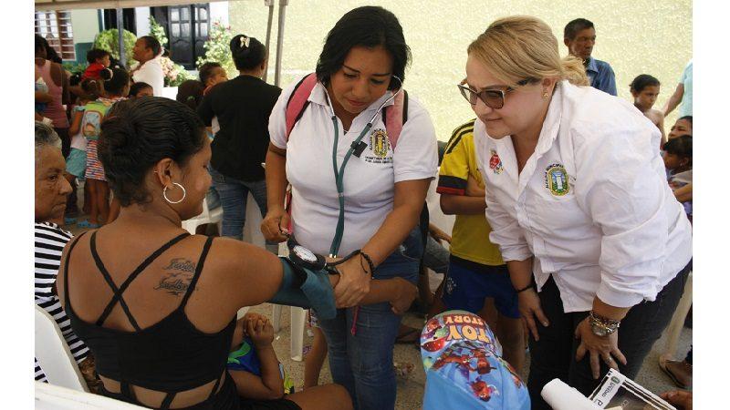 Cachimbero y barrios aledaños se beneficiaron con la 'Salutón' de la Alcaldía de Soledad