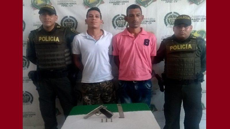 Capturan a dos atracadores en el barrio Los Cusules de Soledad