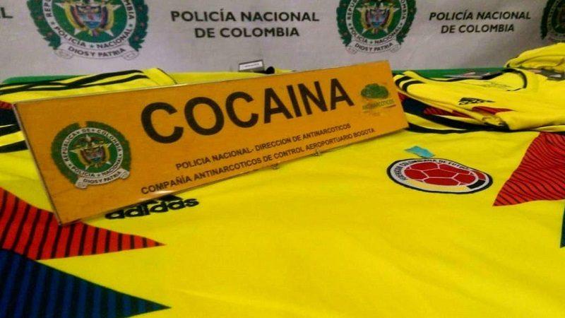 Decomisan 14 camisetas de Selección impregnadas con cocaína que iban para Holanda