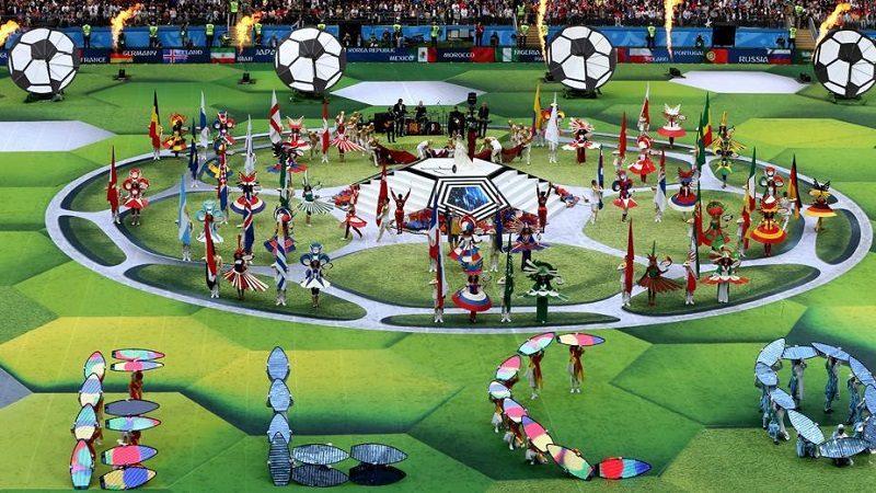 Espectacular ceremonia de inauguración del Mundial Rusia 2018