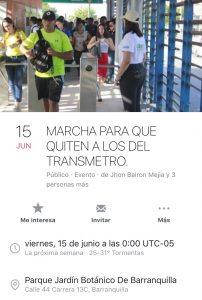 Pasajero intentó agredir con navaja a Guía de Transmetro, en la Estación Pacho Galán 1