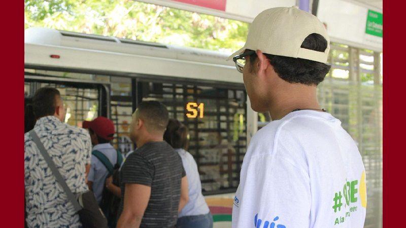 Pasajero intentó agredir con navaja a Guía de Transmetro, en la Estación Pacho Galán