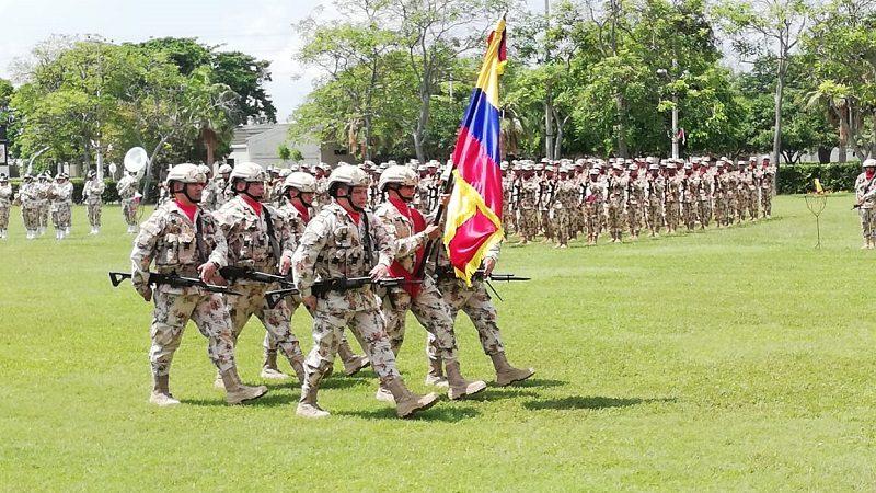 Primer contingente de soldados 2018 de la segunda Brigada, juró bandera en el cantón militar Malambo