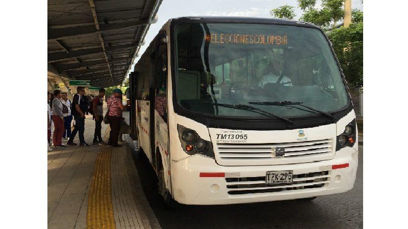 Transmetro alista operación especial para las elecciones de este domingo 17 de junio