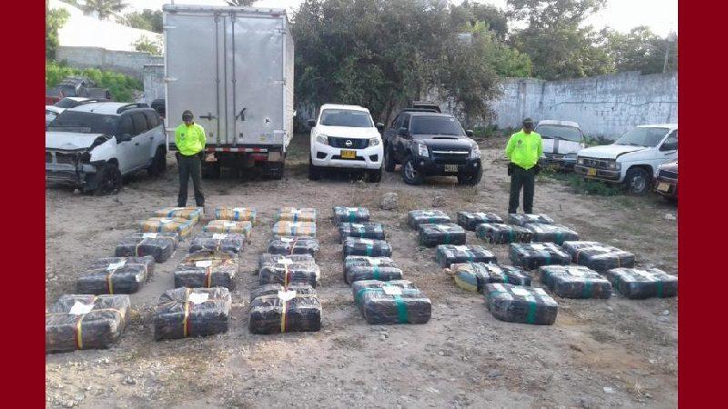 Capturan a seis personas con 877 kilos de marihuana, en Malambo