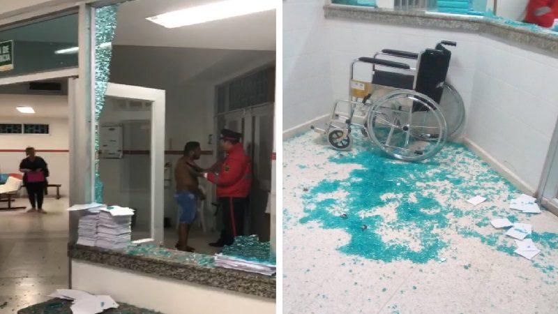 Hombre ataca a golpes a médico y enfermera, y rompe vidrios en hospital de El Bosque