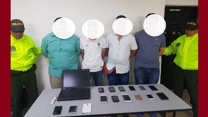 Operación 'Tecnocel' deja cuatro capturados y 136 celulares incautados, en Fedecafé